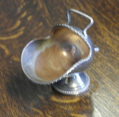 vintage  silver plate scuttle  shape SUGAR BOWL