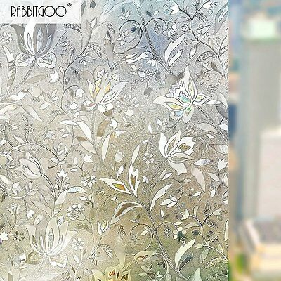 No Glue  3D Window Films Privacy Static Decorative Film Frosted Glass Sticker