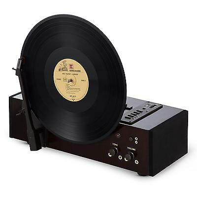Auna Retro Vinyl Record Player Usb Turntable Wood Mp3 Muisc Sd Belt *free P&p*
