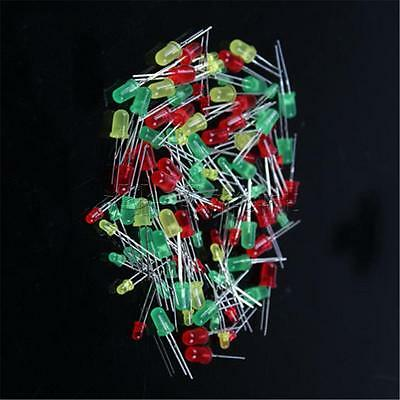 100PC/Set Round Head Light Emitting Diode LED 3mm 5mm Red Green Yellow Mix Color