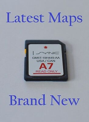 NEW A7 2016 MAP UPDATE Navigation SD CARD SYNC FITS ALL FORD, LINCOLN UPDATES A6