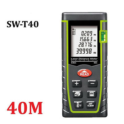 LCD Handheld Digital Laser Point Distance Meter Measure Tape Range Finder 40M