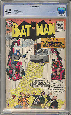 Batman # 120  The Airborne Batman !  CBCS 4.5 scarce book !