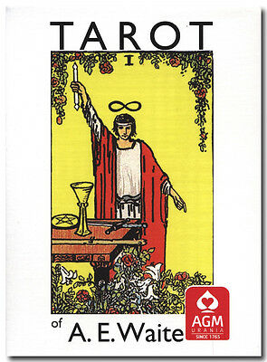 Rider Waite Tarot in English POCKET-sized deck 57x89mm AGM re-edition brand NEW