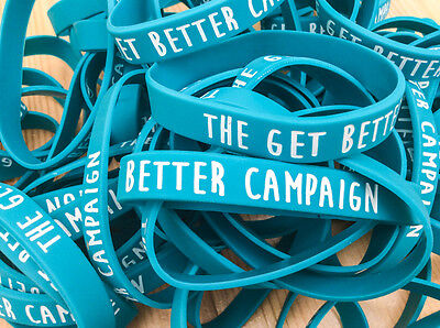 The GET BETTER CAMPAIGN Charity Wristband ALL PROCEEDS to Cancer Research UK