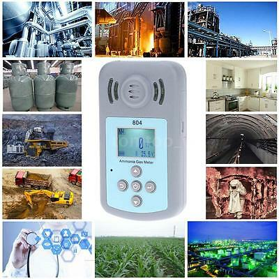 LCD NH3 Ammonia Gas Detector & Temperature Tester With Alarm Value Settable Z1Q5