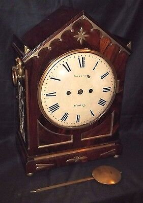 Top Quality Regency English Double Fusee Bracket Clock