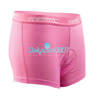 New Women Bike Bicycle Cycling Underwear 3D Padded Pants Shorts Bottoms Pink