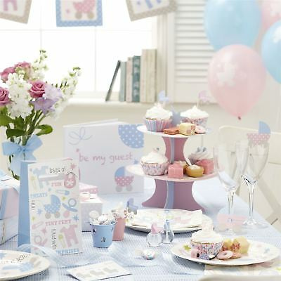 Tiny Feet Baby Shower Party Supplies Pink Blue Tableware Neutral Decorations
