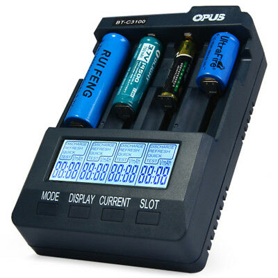 Opus BT - C3100 V2.2 Digital Intelligent 4 Slots LCD Battery Charger  US PLUG