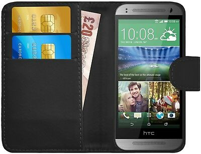 G-Shield® Luxury Leather Flip Wallet Case Cover For HTC One Mini 2 (M8 Mini)