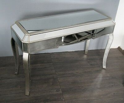 Antique Silver Mirrored  Console / Dressing table