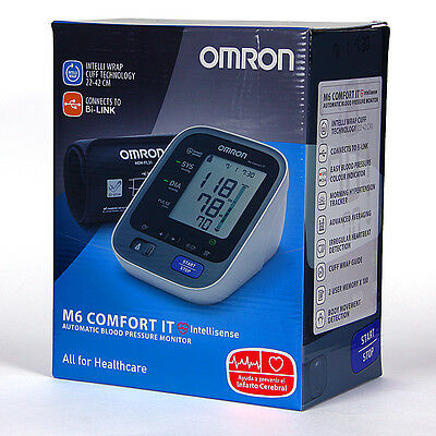Tensiometro de Brazo Omron M6 Comfort IT USB Inteligente Deteccion Arritmias