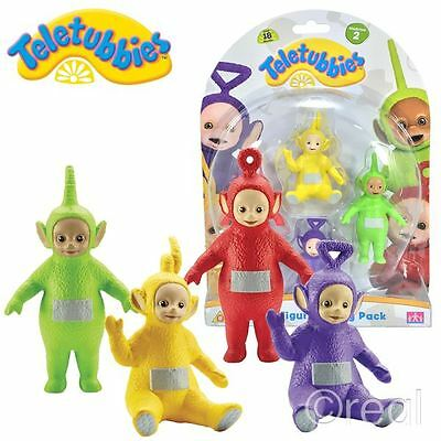 New Teletubbies 4 Figure Family Pack 2 Tinky Winky Dipsy Laa-Laa Po Official