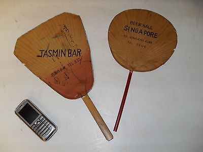 Vintage Singapore Beer Hall Paper Hand Fans