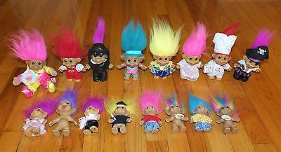 Lot Of 16 Russ Troll Dolls -Nice Variety Of Desirable Dolls - Instant Collection