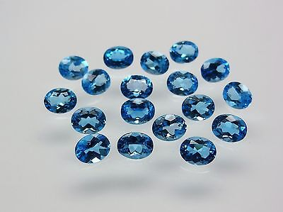 Swiss Blue Topaz 100% Natural 9x7mm Oval Shape AAA GRADE Loose Gemstone