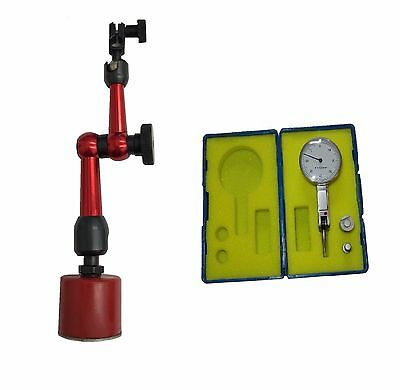 Rdgtools New Mini Magnetic Base Red Round Base Metric Finger Clock Lathes Myford