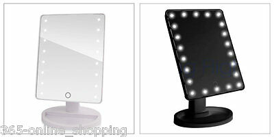 16 LED Illuminated Touch Screen Make Up Cosmetic Tabletop USB Vanity Mirror UK