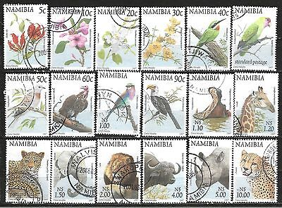 Namibia 1997 Fauna & Flora Definitive Complete Postal Used Set Pkt338