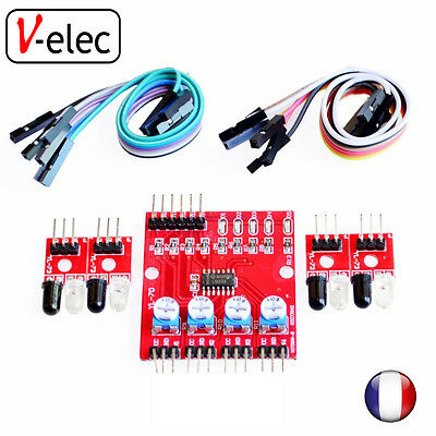 1160# 4 Channel Infrared Detector Line Obstacle Avoidance Sensor Module Arduino