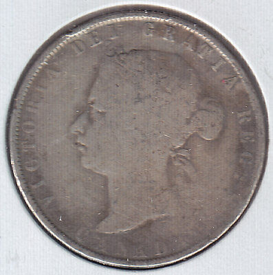 1872 Canada Fifty Cents Silver Coin