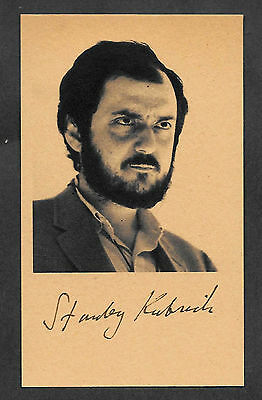 Stanley Kubrick Autograph Reprint On Genuine Original Period 1980s 3x5 Card
