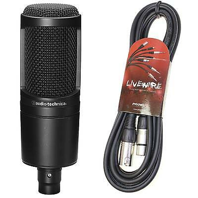Audio Technica AT2020 Condenser Mic & Pro 2m XLR lead Bundle - Free Delivery
