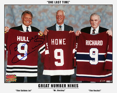 The Three Great Nines - Maurice Richard, Gordie Howe and Bobby Hull - 8x10 - 0
