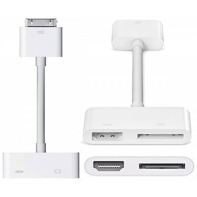Apple Digital AV Adapter - HDMI for Audio Video Device TV iPod iPhone MD098ZM/A