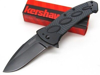KERSHAW Tactical Black IDENTITY Assisted Straight Folding Pocket Knife New! 1995