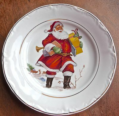 Crown Regent Santa Claus Plate Christmas Plate Fine China Romania