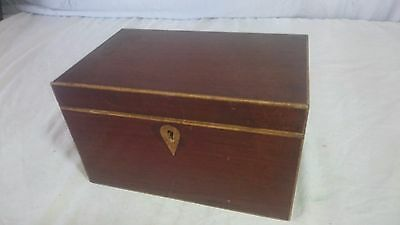 Antique Victorian Rosewood Veneer Tea Caddy Box