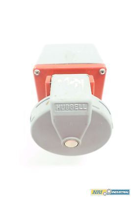 Hubbell 460R7W 480V-Ac 60A Amp 4W 3P Receptacle Plug D549069