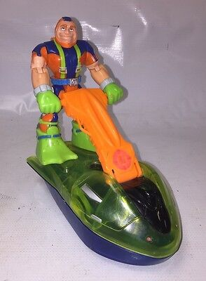 Fisher Price RESCUE HEROES, Gil Gripper & Jet Ski - Action figure