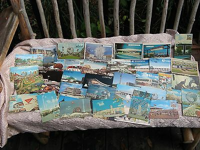 giant lot of 40 Used WORLD'S Fair post cards! expo'67~'68~Montreal~New York~vtg~