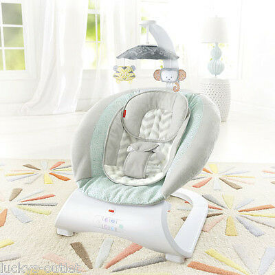 Fisher Price Sweet Surroundings Deluxe Vibrating Bouncer w/ Kitty Mobile CMR14