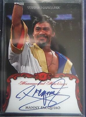 2011 Topps Marquee ON-CARD AUTOgraph *MANNY PACQUIAO* SSP! Boxing Champ 11 Topps