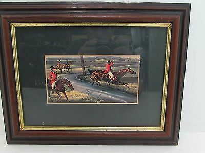 Antique Hand Coloured Hunting Print