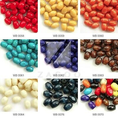 30g 690pcs Approx Wood Beads Rice Spacer Bracelets Jewelry Findings Crafts 6x4mm