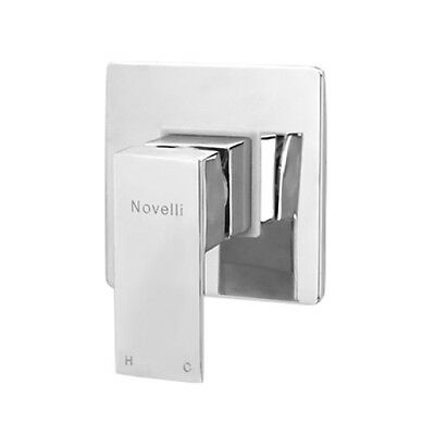 RRP $219 Square Wall shower Mixer Hot Cold Tap Bath/Basin Faucet Chrome Novelli