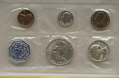 1962 Philadelphia Mint 90% Silver Proof Coin Set - 5 COINS