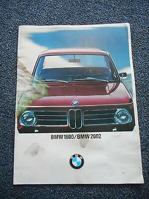 BMW Vintage Sale Brochure Book Catalog 1600 & 2002