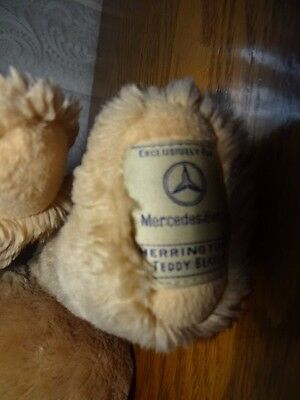 "14"" Exclusively for Mercedes Benz Herrington Teddy Bears jointed plush EUC"