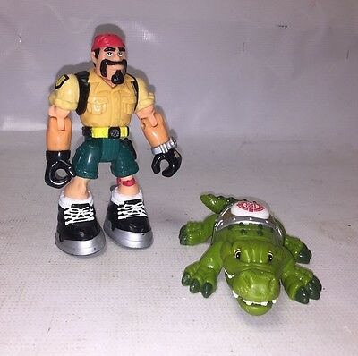 Fisher Price RESCUE HEROES, Safari Guy with Alligator - Action Figure Toy