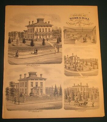 1871 Webb & Hall Jeweler and Residences Janesville WI Print