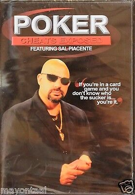 Poker Cheats Exposed Video (2-disk DVD set) Sal Piacente NEW