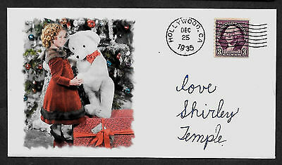 Shirley Temple Xmas Featured on Collector's Envelope 80 year old stamp! *1045