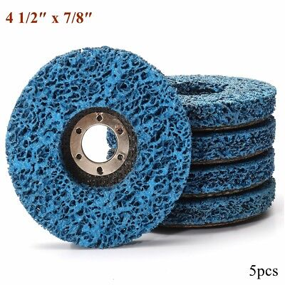 5PCS 110mm/4.5'' Poly Wheel Paint Rust Removal Clean Angle Grinder Discs Strip