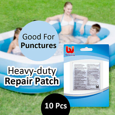 BESTWAY 6.5x6.5CM 10PCS Heavy-duty Repair Patch Good for Fixing Punctures